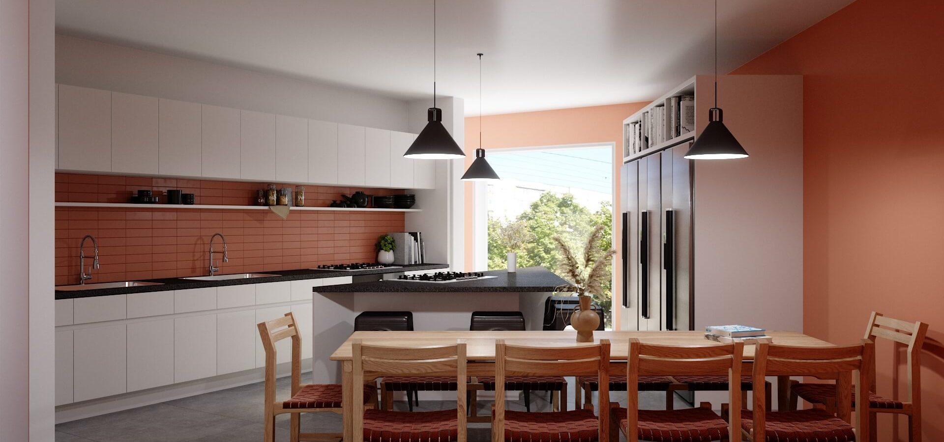Render Casa Newton Polanco Cocina